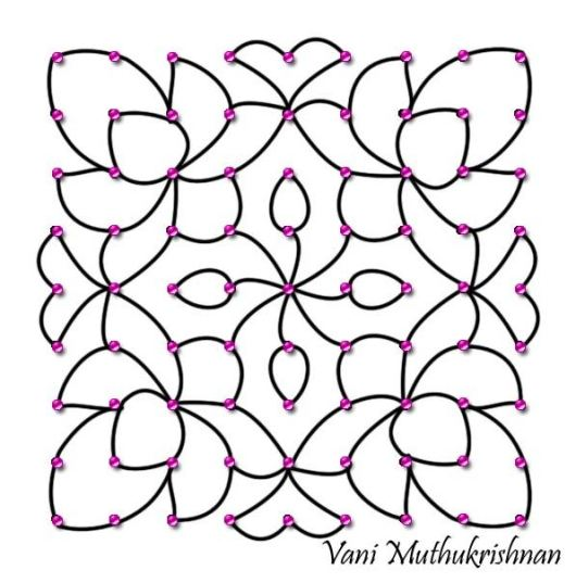 Rangoli Designs with Dots for Ugadi