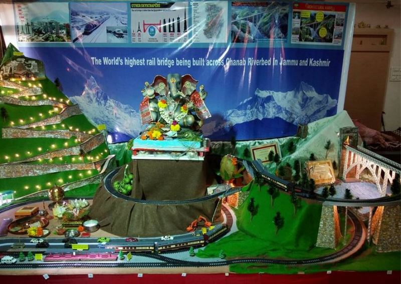 India S Development And Ganpati Decoration Ideas At Home With Theme