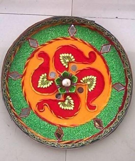 Aarti Thali Decoration at Home