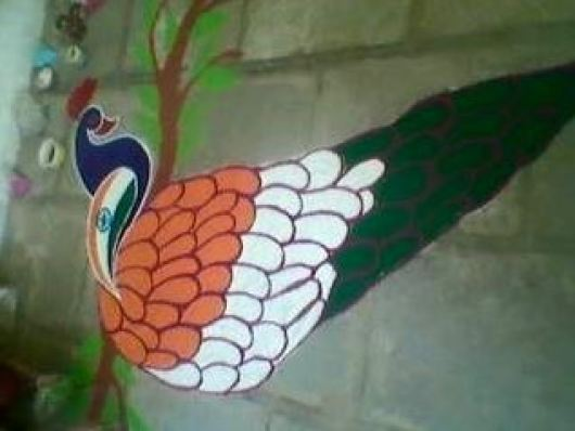 Independence day and Republic Day Rangoli Designs