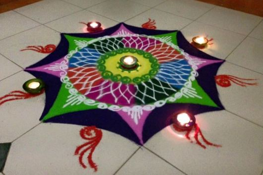 Rangoli Designs without Dots for Holi
