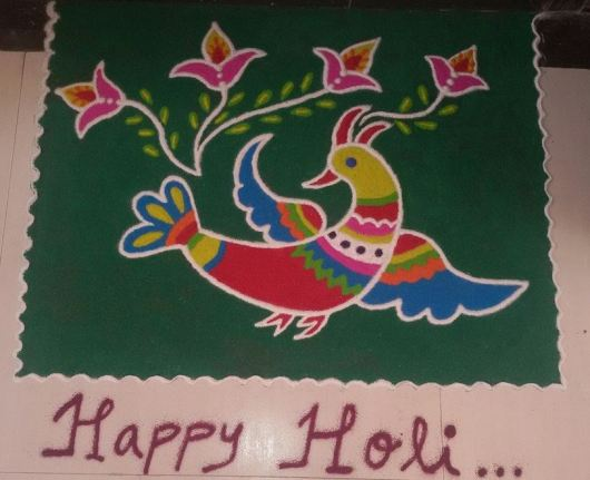 Easy Rangoli Design for Holi