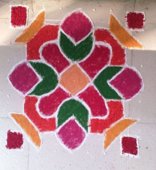 Diwali Rangoli Design with Dots