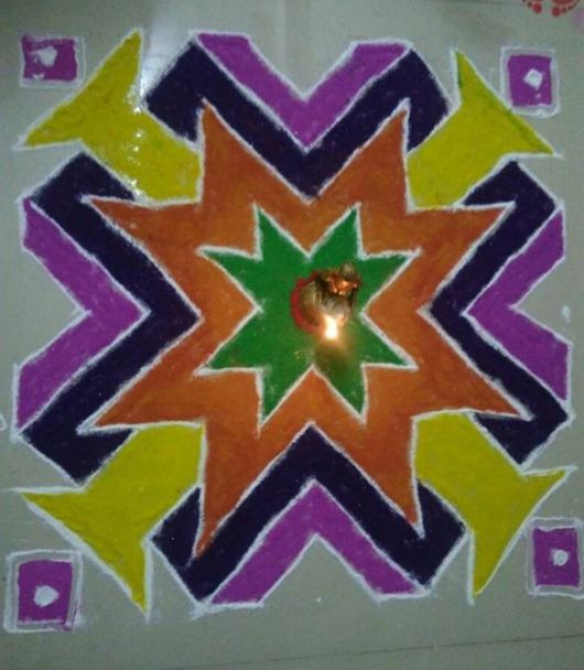 Rangoli Design 2016 with Dots