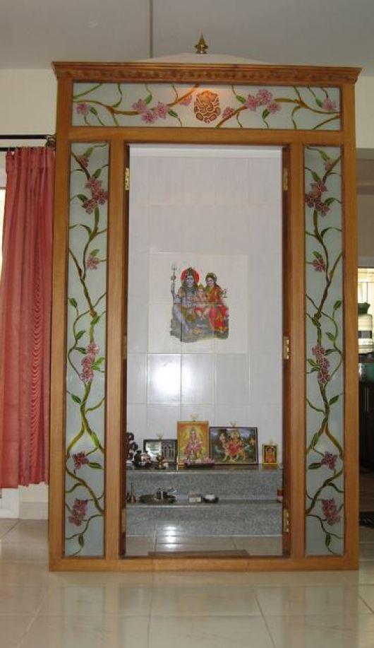 Pooja room ideas in small house pooja room pooja room designs small pooja room pooja for Design of mandir in living room