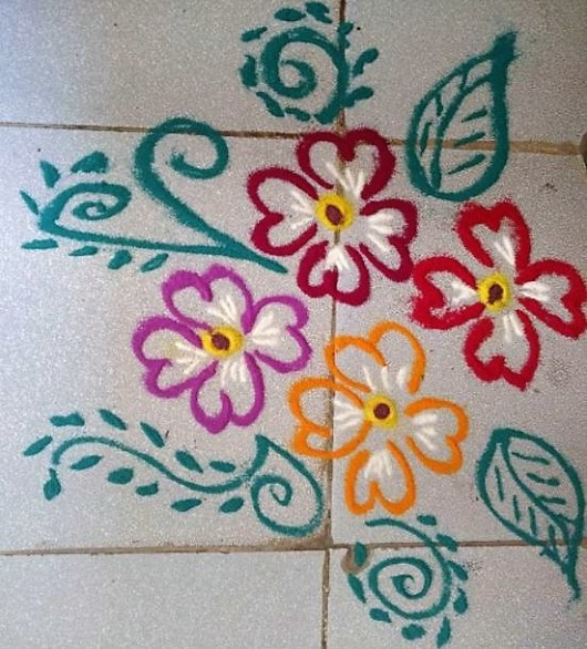 Easy Rangoli Art Designs