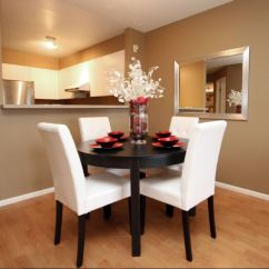 White Round Kitchen Table Set Sink Flange Dining Room Designs For Small Spaces - ...