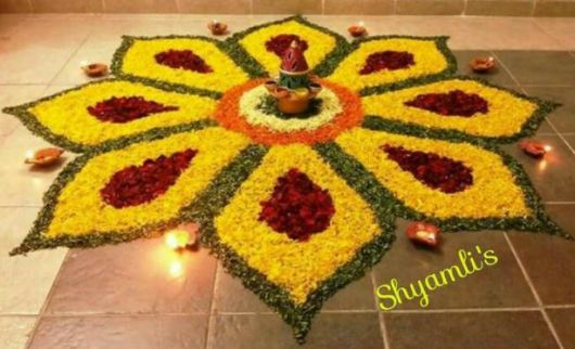 Diwali Flower Rangoli Designs 2017
