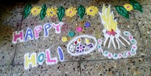 Rangoli Designs for Holi Festival 2018