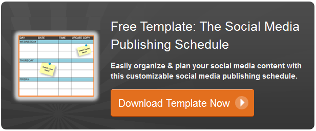 social media publishing template
