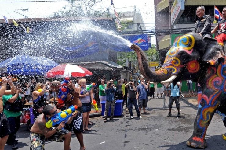 Image result for bangkok water festival