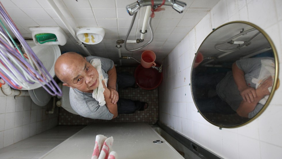 Is this the worlds smallest bathroom Po Tin Estate residents think so  South China Morning Post