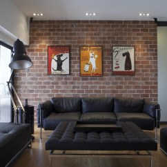 New York Loft Style Living Room Light Ideas To Decorate A Focus On Personality Brick Walls Are Common Feature In Lofts The Bricks Raw And Unfinished