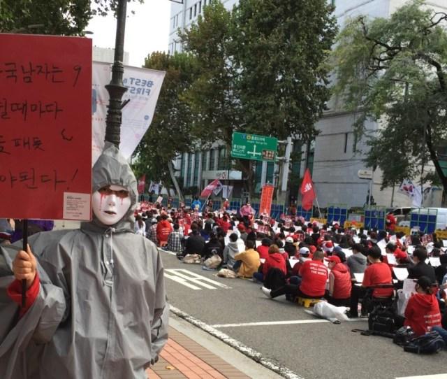 Women Protest Hidden Camera Pornography In Seoul South Korea Photo Crystal Tai
