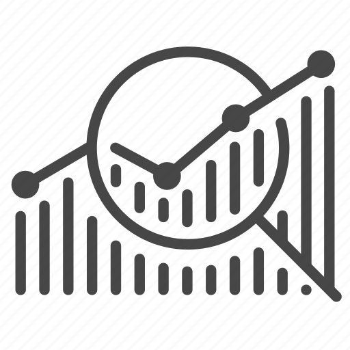 Analysis, graph, research, results, test icon