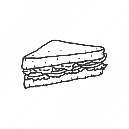 Bacon, bacon sandwich, blt, food, picnic, salad, sandwich icon
