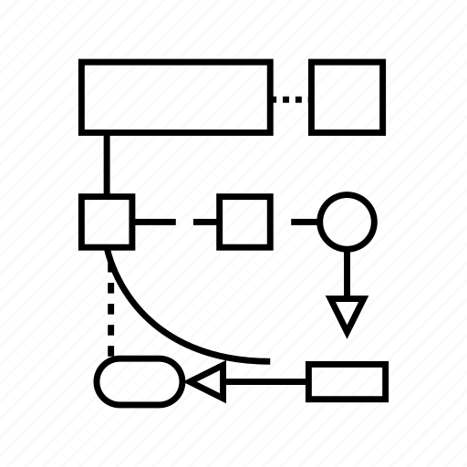 Development, diagram, logic, process, programming icon