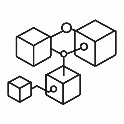 Box, connect, cube, link, programming, share, structure icon