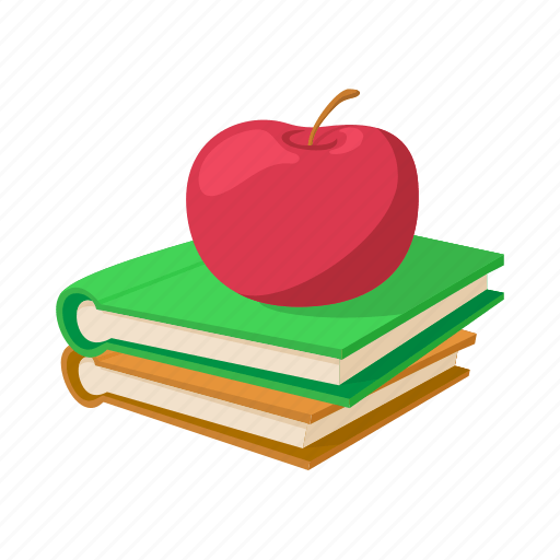 apple book cartoon education