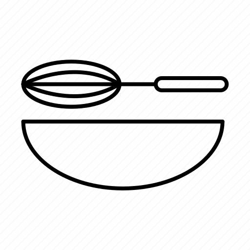 Bakery, bowl, bread, maker, making, whisk icon