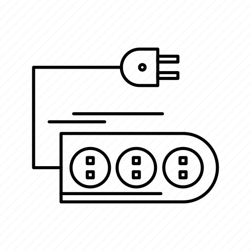 Cable, cord, electric, extension, plug icon