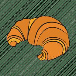 breakfast croissant bakery icon food vector editor open