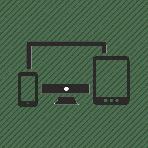 Devices, ipad, iphone, responsive icon