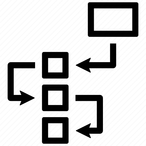 Flowchart, planning, strategy icon