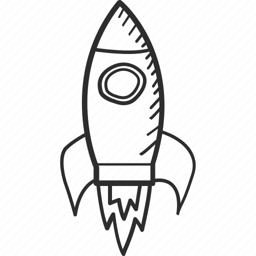 Business, drawing, launch, plane, rocket, startup, vision icon