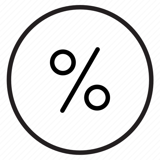 Discount, divide, finance, math, percentage, sale icon