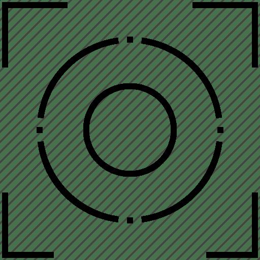 Camera focus, capture, focus, screenshot, target icon