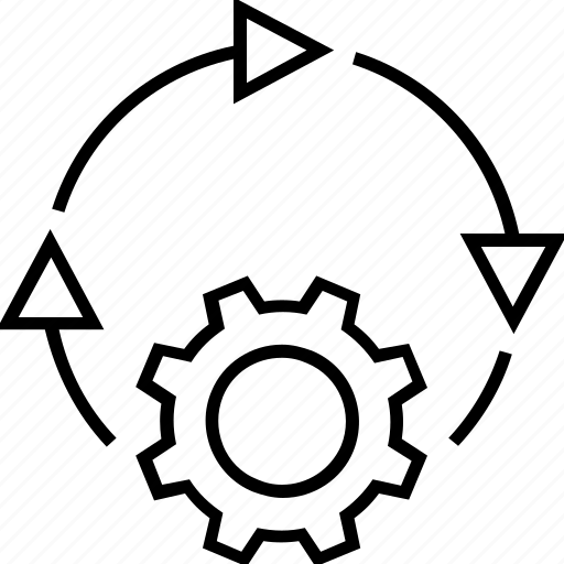 Adapt to changes, changes, cog, new task, situations icon