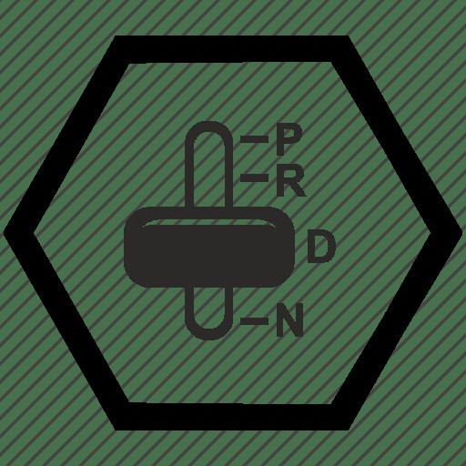 Automatic, car, transmission icon