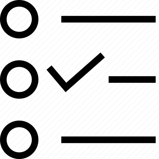 Checkbox, checklist, organizer, to-do, to-do list icon