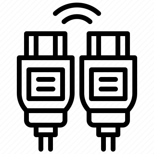 Cable, device, electronic, electronics, hdmi, multimedia icon