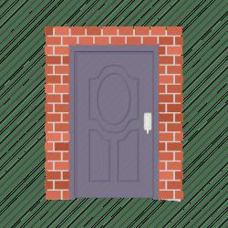 door cartoon wall brick metal entrance icon brown doorway vector architecture frame 512px vectors