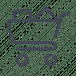 cart shopping icon basket commerce editor open