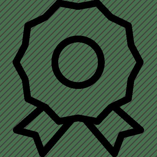 Award, badge, certificate, education, merit icon