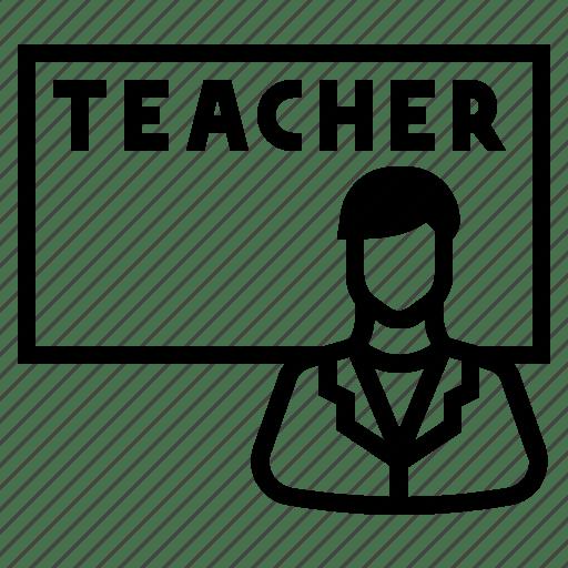 Teach, teacher, teacher teaching, teaching icon