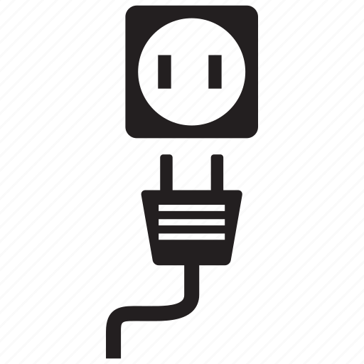 Electric, outlet, plug, power icon
