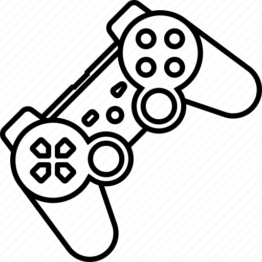 Video Game Controller Line Drawing