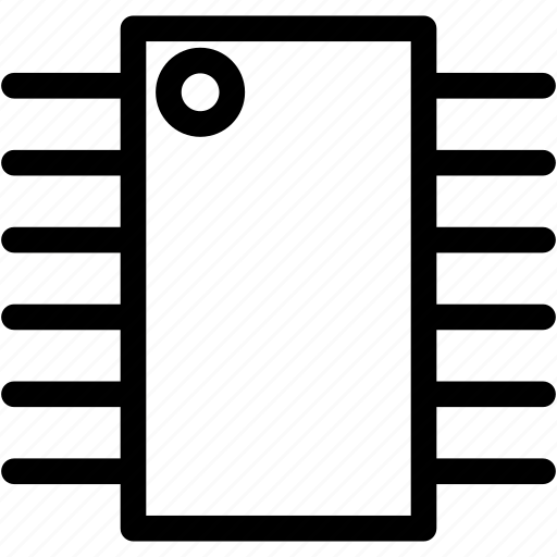 Cpu, integrated circuit, microcontroller icon