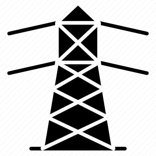 Electricity, overhead cable, power line, wiring icon