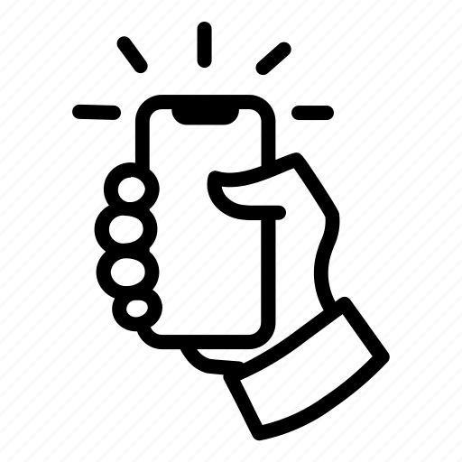 Finger, grab, hand, mobile phone icon