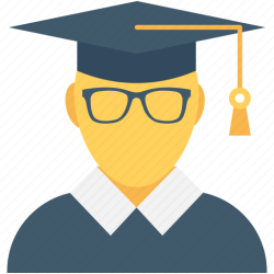 icon student graduate university postgraduate graduation flat icons powerpoint editor open getdrawings