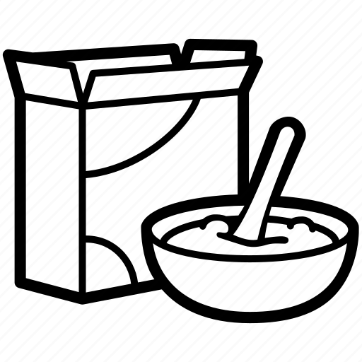 Cereal Box Maze Game Sketch Coloring Page