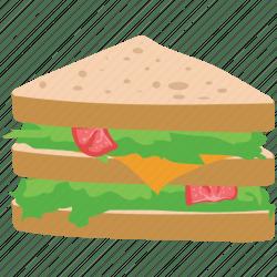 sandwich icon club bread breakfast food icons flat 512px