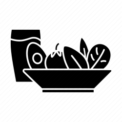 drink healthy salad icon menu vegetable dinner icons 512px silhouettes