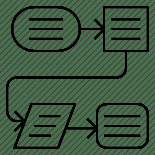 Chart, flow, plan, process icon