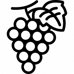 Fresh fruit grape grapes icon Download on Iconfinder